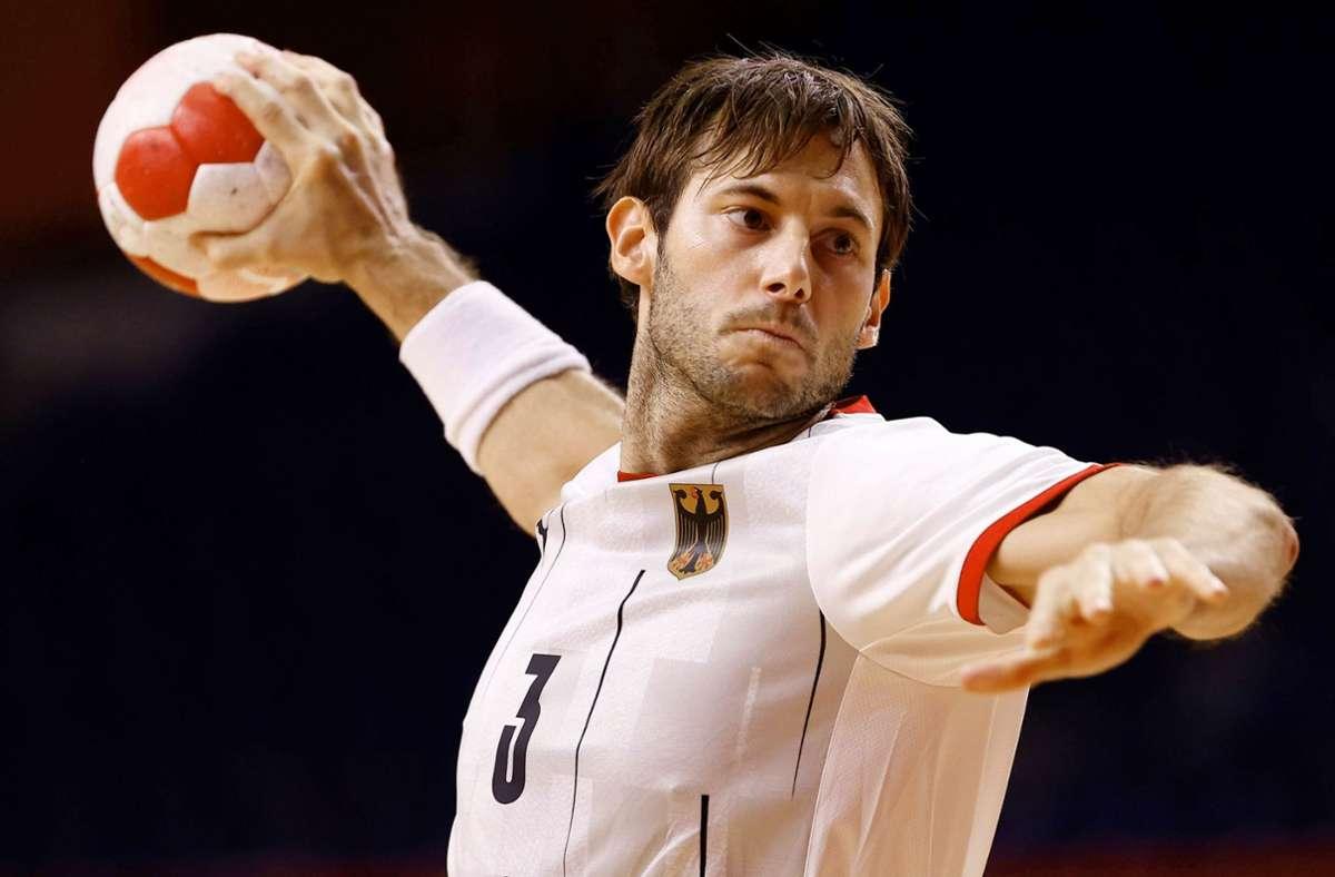 Handball-Nationalspieler Uwe Gensheimer bei den Olympischen Spielen 2021 in Tokio. Foto: imago images/Agencia EFE/José Méndez