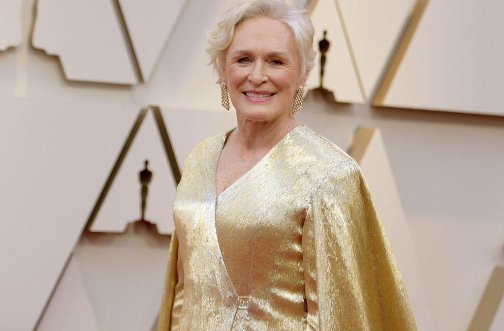 Glenn Close bezauberte in einem goldenen Funkelkleid bei den Oscars. Foto: GETTY IMAGES NORTH AMERICA