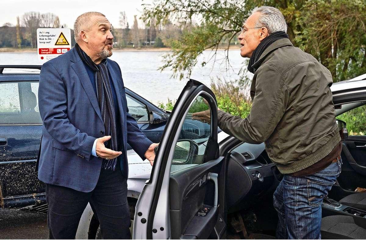 Freddy Schenk (Dietmar Bär, links) und Max Ballauf (Klaus J. Behrendt) wollen den Tod einer 60-Jährigen in einem Luxushotel aufklären. Foto: WDR/Thomas Kost