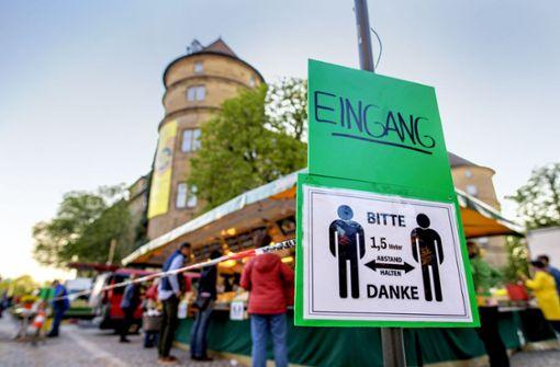 Selbst der Wochenmarkt in Stuttgart steht auf der Kippe