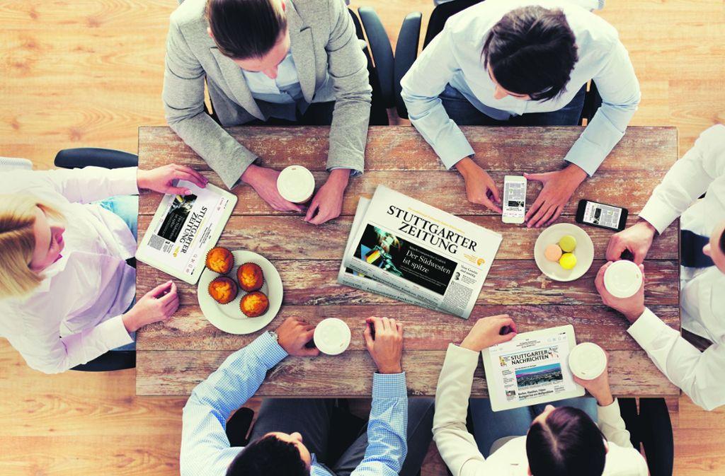 Mit ihren gedruckten und digitalen Ausgaben erreichen die Zeitungen mehr Leser denn je. Foto: StZ