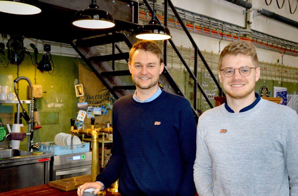 Der Gründer Artur Oswald (links)  und Philipp Seul, der das operative Geschäft leitet. Foto: Susanne Roeder