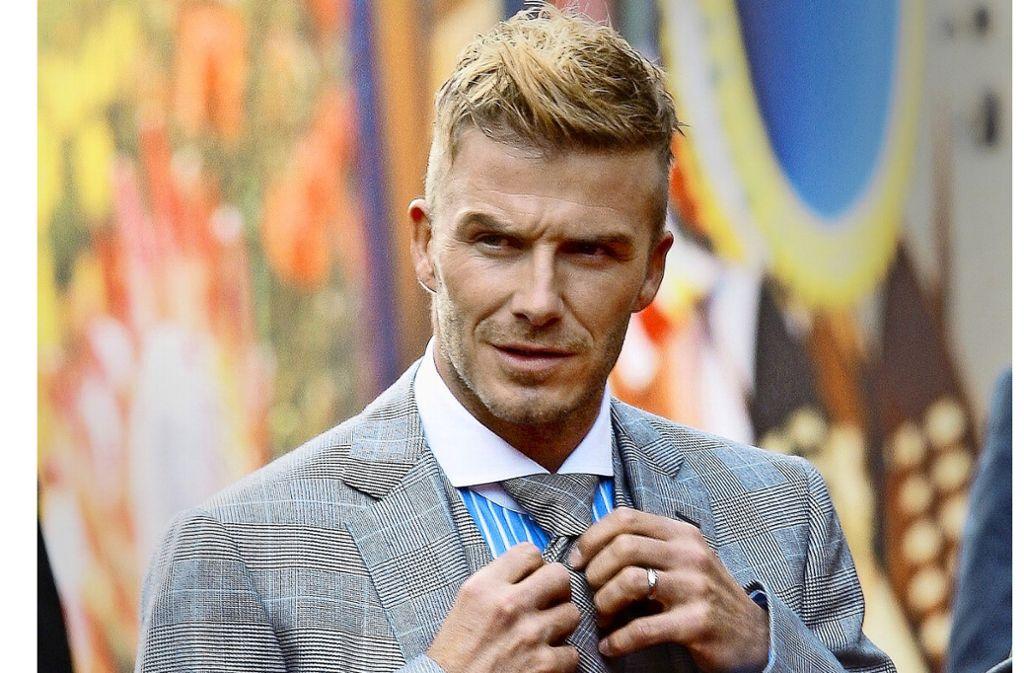 Das traditionelle Konzept von Männlichkeit hat ausgedient, sagen Experten. Der Ex-Profi-Fußballer David Beckham gilt als Prototyp des metrosexuellen Mannes: heterosexuell, aber mit  weiblichen, weichen Zügen und einem Hang zur Extravaganz. Foto: dpa/Kim Ludbrook