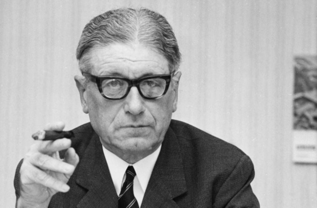 Eschenburg (1904-1999) ist ein Stammvater der deutschen Politikwissenschaft. Foto: dpa