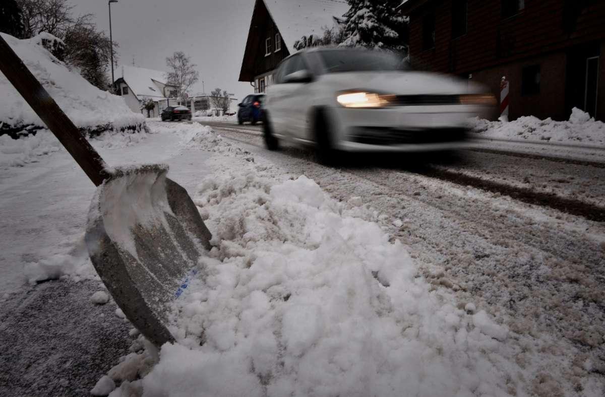 Besonders im Schwäbischen Wald fiel am Dienstag jede Menge Schnee. Foto: StZN/Weingand