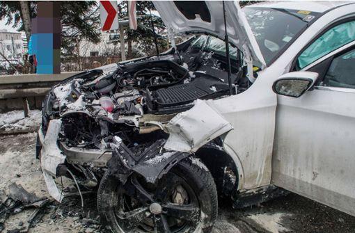 Fünf Verletzte bei schwerem Unfall