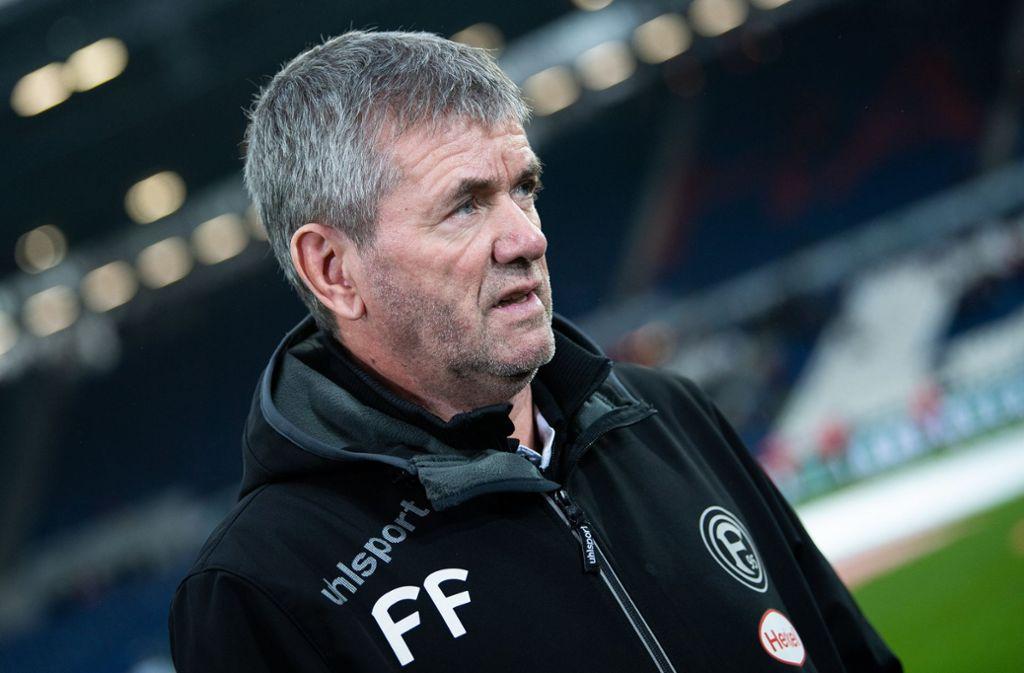 Mit Funkel als Trainer gewann Aufsteiger Düsseldorf in der Hinrunde gegen Dortmund und Bayern München. Foto: dpa