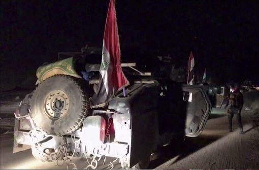 Kurden: Irakische Streitkräfte beginnen Großangriff