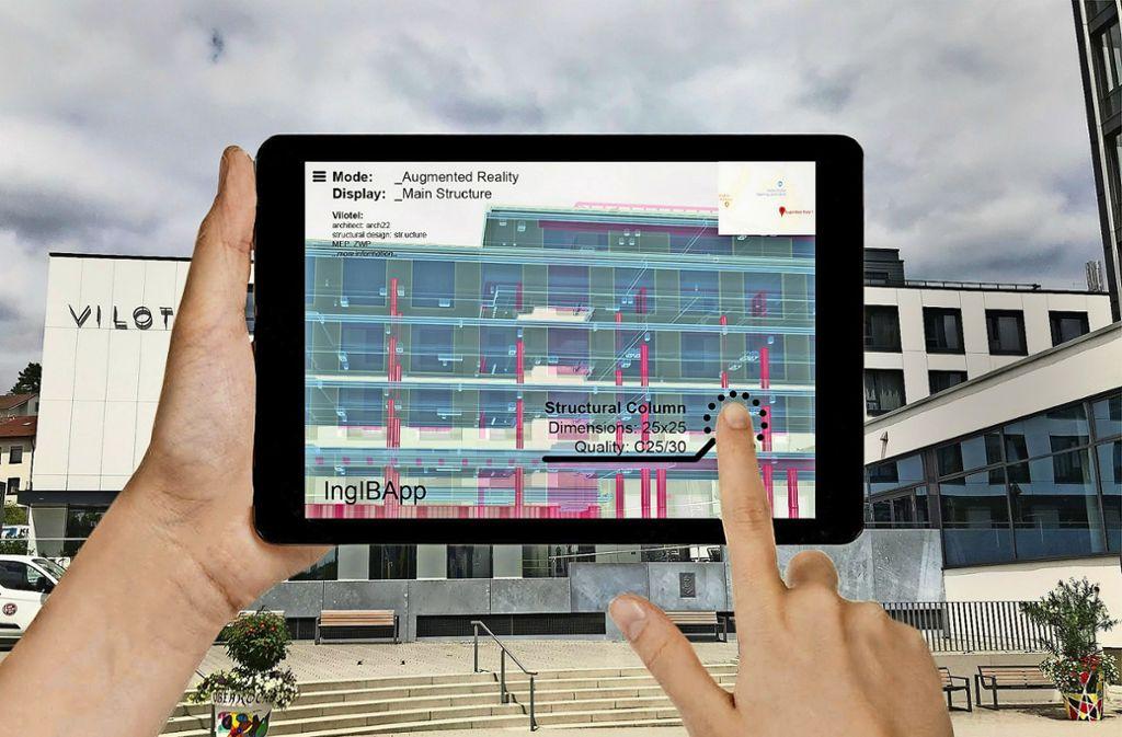 So könnte ein Beitrag der Ingenieurkammer zur IBA aussehen: eine App zeigt, wie ein Gebäude konstruiert ist. Foto: Ingenieurkammer