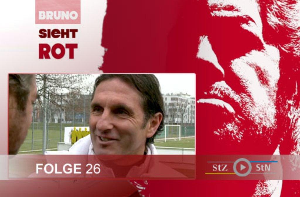 Hier ein paar Eindrücke von den Dreharbeiten zur 26. Folge von Bruno sieht rot mit Bruno Labbadia auf dem Vereinsgelände des VfB Stuttgart in Bad Cannstatt. Foto: SIR