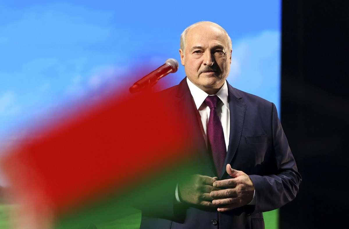 """An diesem Freitag soll der als """"letzter Diktator Europas"""" verschriene Alexander Lukaschenko höchstpersönlich mit Sanktionen belegt werden. Foto: dpa/Uncredited"""