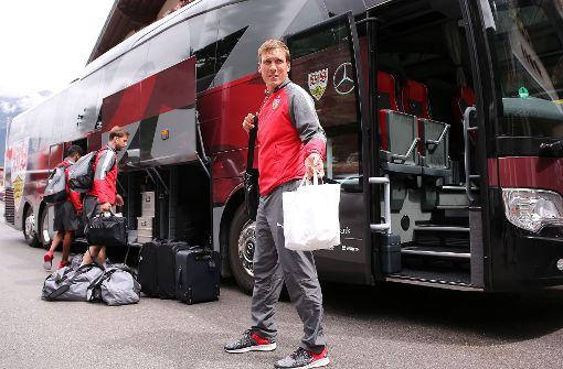 VfB-Profis im Stubaital angekommen