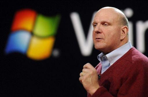 Chef Steve Ballmer kündigt seinen Rückzug an