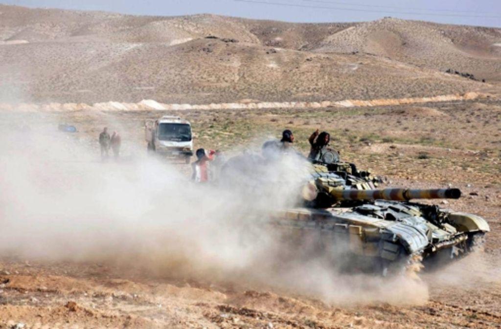 Die syrische Armee soll nach Angaben eines TV-Senders die Zitadelle von Palmyra vom sogenannten Islamischen Staat zurück erobert haben. Foto: dpa
