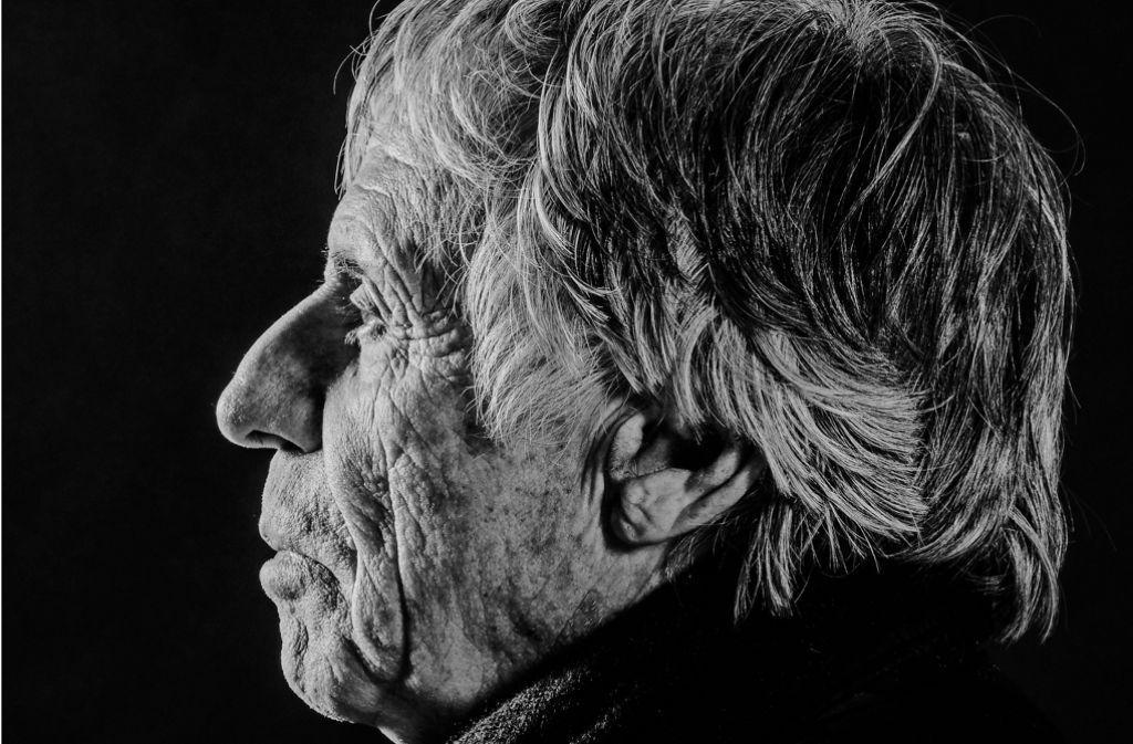 """Fotograf Dieter Blum in der Foto-Serie """"Stuttgarter Charakterköpfe"""" Foto: Wilhelm Betz"""