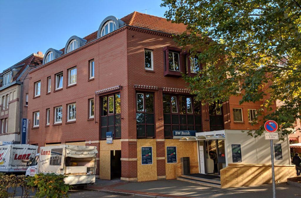 Sieben Monate lang ist die Bankfiliale umgebaut worden. Foto: Jürgen Brand