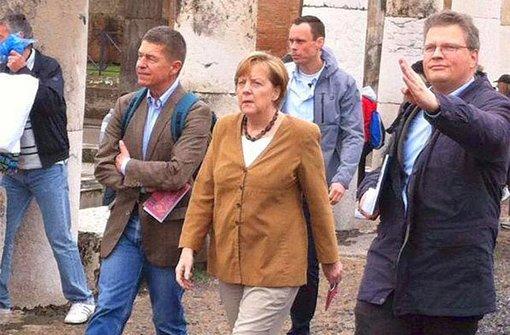 Angela Merkel besucht Pompeji