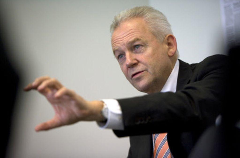 Bahnchef Rüdiger Grube Foto: Steinert