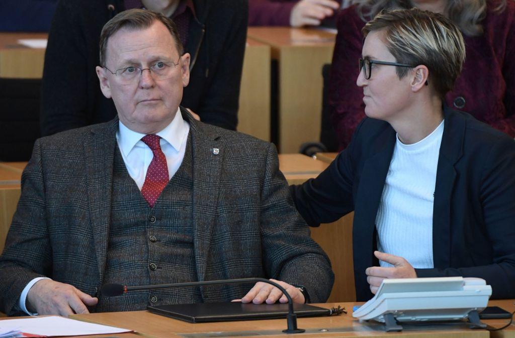 Der Thüringer Ministerpräsident Bodo Ramelow ist überraschend abgewählt worden. Foto: AFP/JENS SCHLUETER