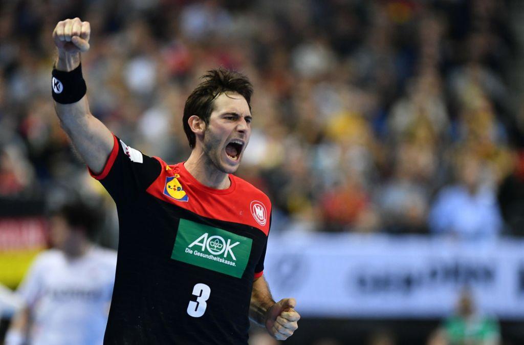 Deutlicher Sieg für die deutschen Handballer um Uwe Gensheimer zum WM-Auftakt gegen Korea. Foto: dpa