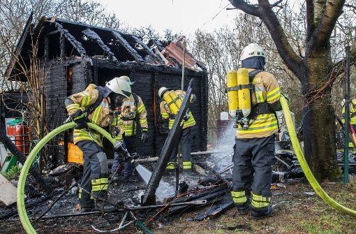 Ein Verletzter bei Schuppen-Brand in Oeffingen