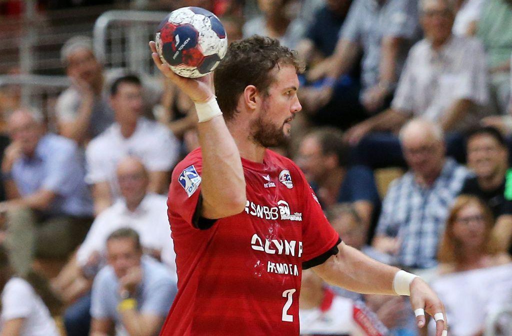 Robin Haller: Seine sechs Tore in Wetzlar reichen nicht zum Punktgewinn für die SG BBM. Foto: Baumann