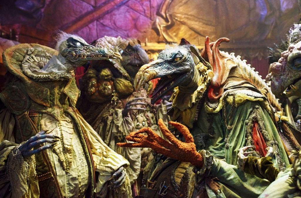 Die gierigen Skekse bilden eine wenig einnehmende Führungselite – aber faszinierend sind diese Monster. Foto: Netflix