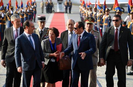Französischer Präsident auf heikler Menschenrechts-Mission