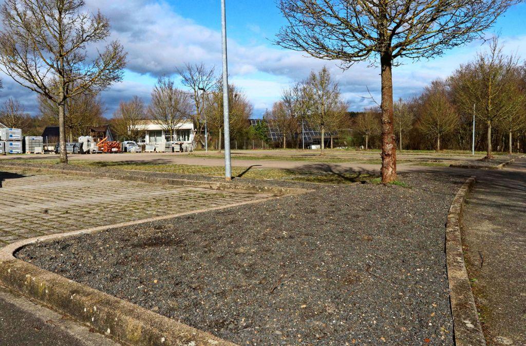 Am Mönsheimer Sportplatz ist nicht mehr viel Grün übrig. Foto: Andreas Gorr