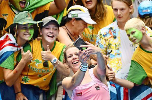 Im Tennis sind die Fans   zum Greifen nah