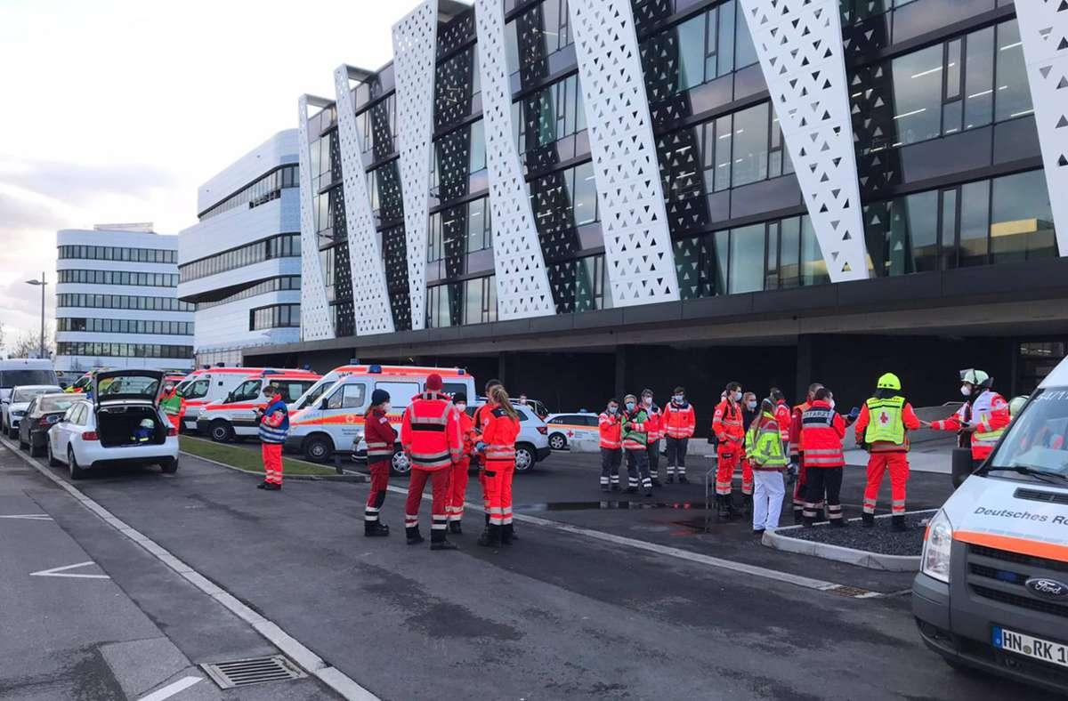 Die Rettungskräfte waren schnell vor Ort. Foto: 7aktuell.de/ Hessenauer