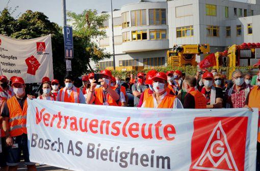 Protest gegen Werkschließung