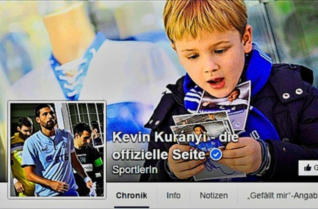 Imagepflege: seine Facebookseite lässt sich der Fußballer Kuranyi von  Werbeprofis bestücken – das Material dazu liefert er selbst. In der Bilderstrecke zeigen wir zwei Beispiele. Foto: StZ