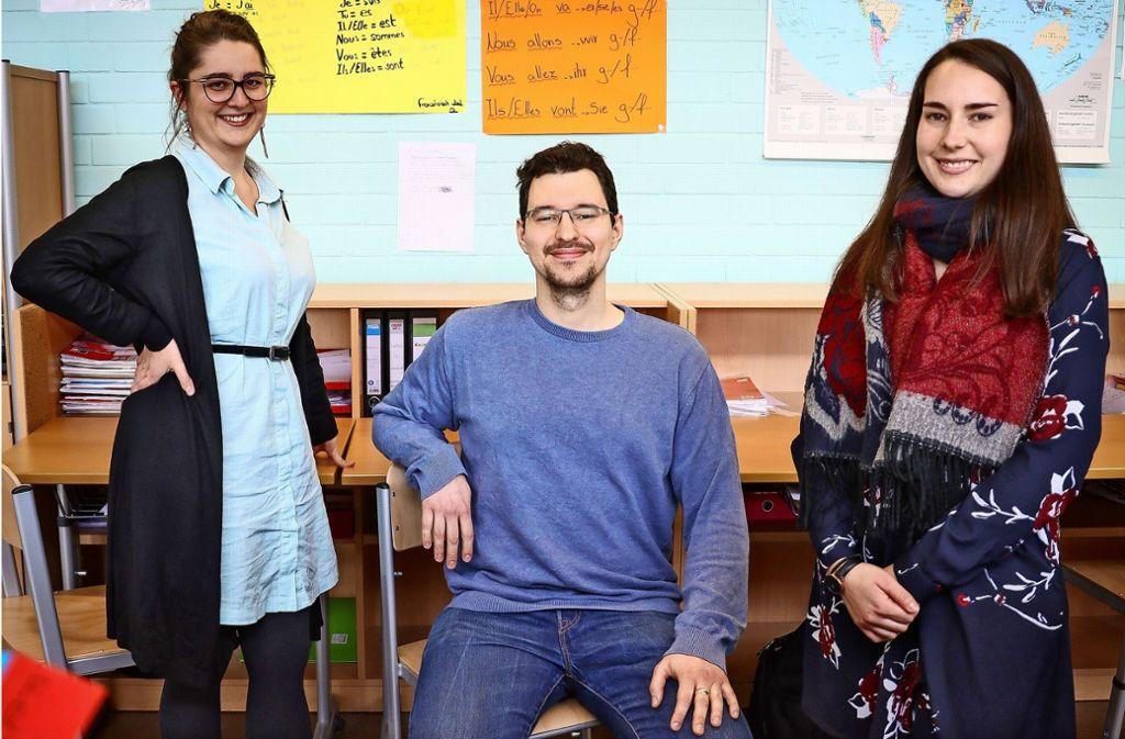 Zufriedene Lehrer: Julia Korn, Lars Horn und Vivien Müller. Foto: factum/Simon Granville