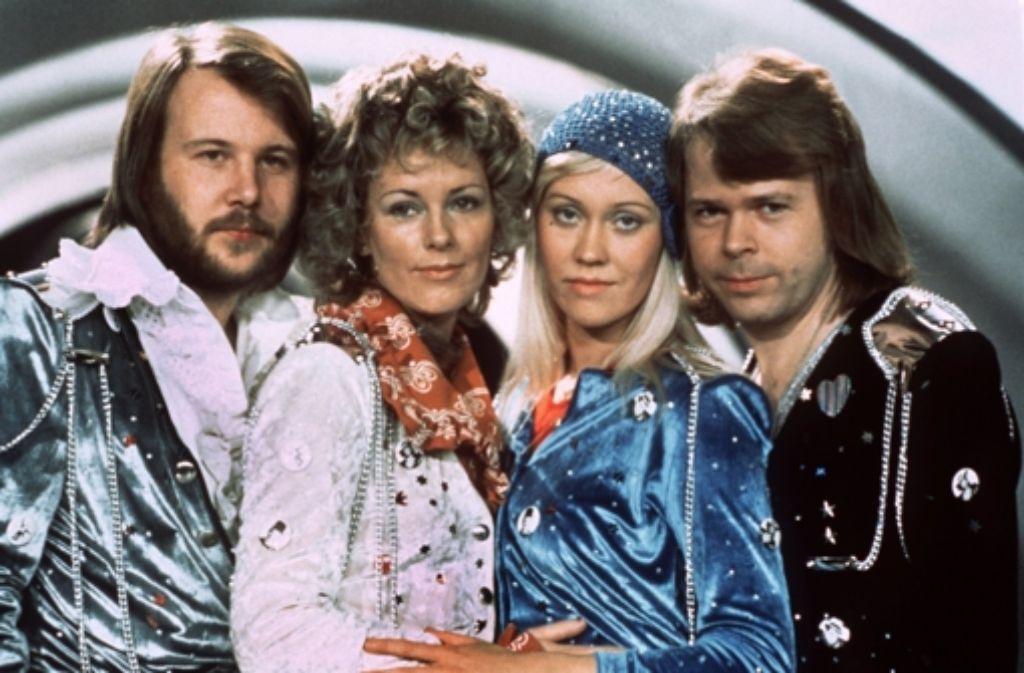 Abba waren (von links) Benny Andersson, Annafrid Lyngstad, Agnetha Fältskog und Björn Ulvaeus Foto: dpa