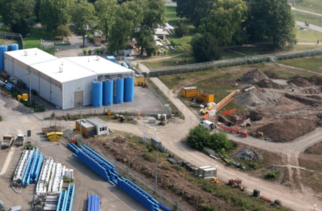 Die bereits in Teilen errichtete Anlage zum  Grundwassermanagement reicht nicht aus für den Bau von Stuttgart 21. Klicken Sie sich durch unsere Bildergalerie vom Stand der Bauarbeiten zu Stuttgart 21. Foto: Achim Zweygarth