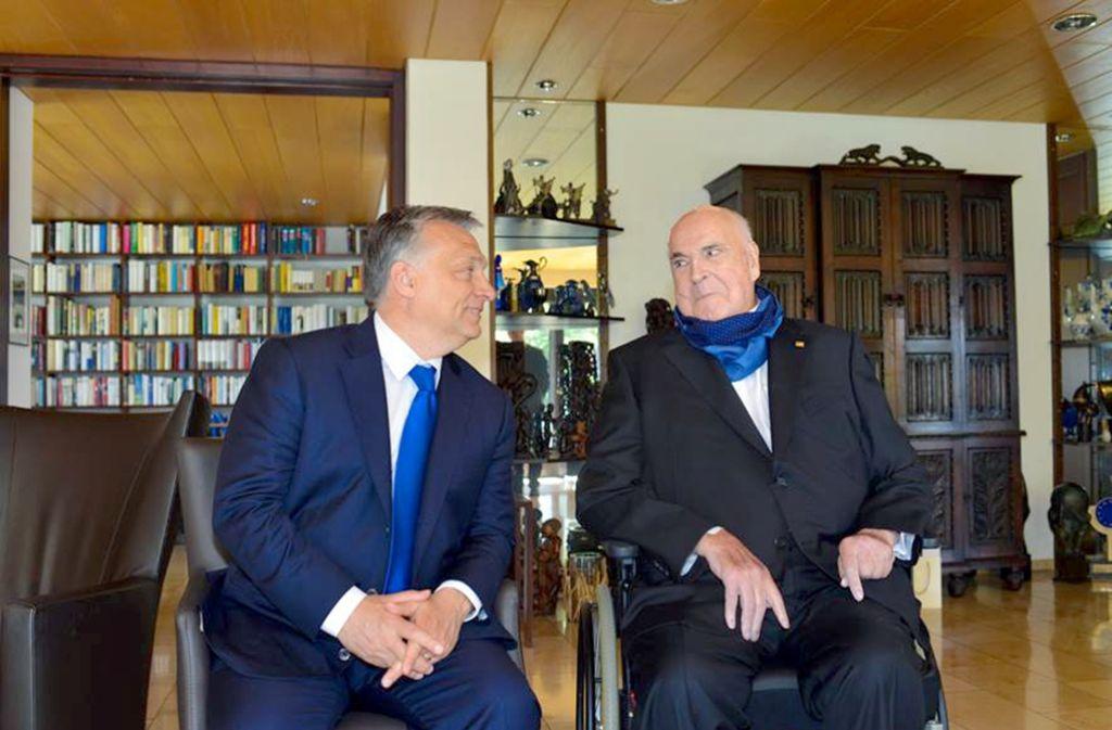 Ungarns Ministerpräsident Viktor Orban zu Besuch bei Altkanzler Helmut Kohl Foto: Daniel Biskup