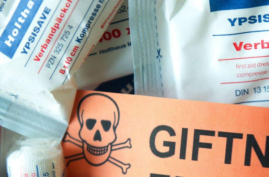 Vergiftungen mit Desinfektionsmitteln nehmen zu. Foto: dpa/Sebastian Kahnert