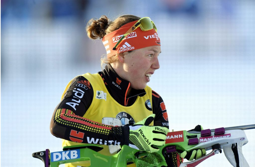 Laura Dahlmeier hat erstmals den Gesamtweltcup im Biathlon gewonnen. Foto: Lehtikuva