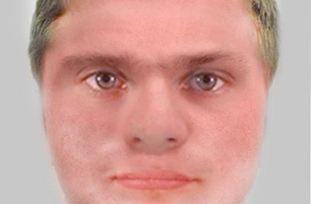 So soll der Mann aussehen, der am Freitagnachmittag in Weinstadt ein Schmuckgeschäft überfallen hat. Foto: Polizei