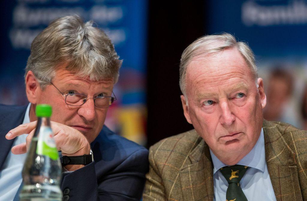 Auch Spitzenleute der AfD wie Jörg Meuthen oder Alexander Gauland brauchen Zuarbeiter. Foto: dpa