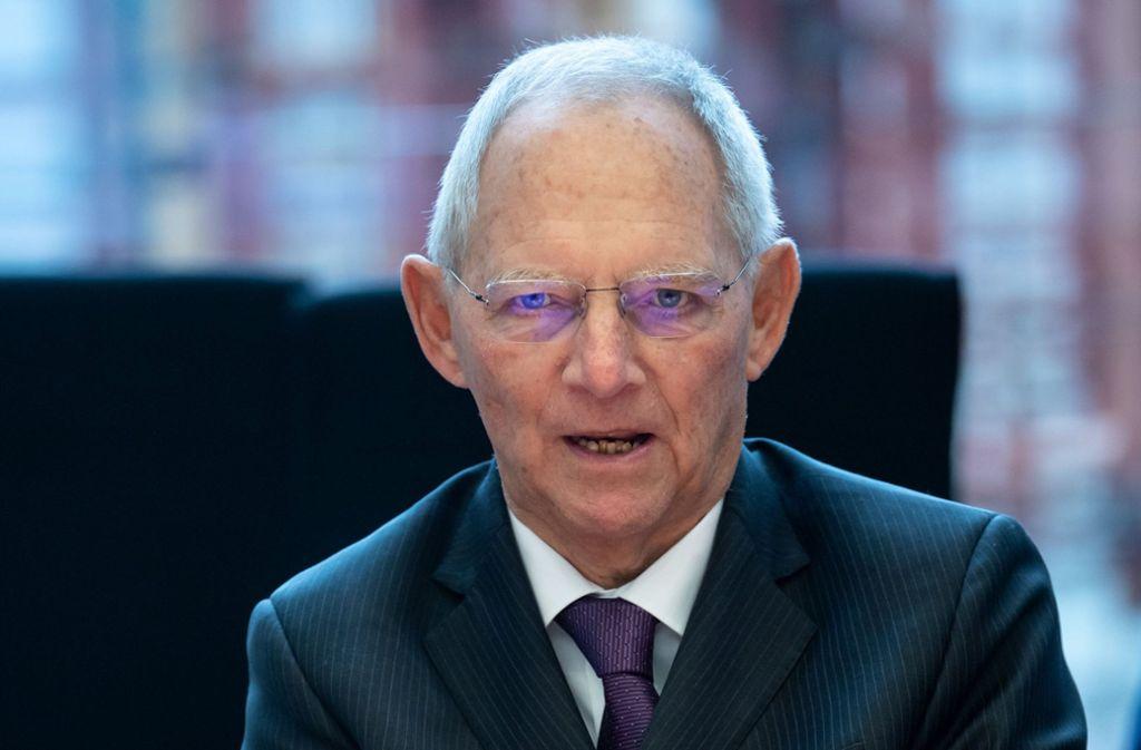 Bundestagspräsident Wolfgang Schäuble äußert sich zur Corona-Krise. Foto: dpa/Bernd von Jutrczenka