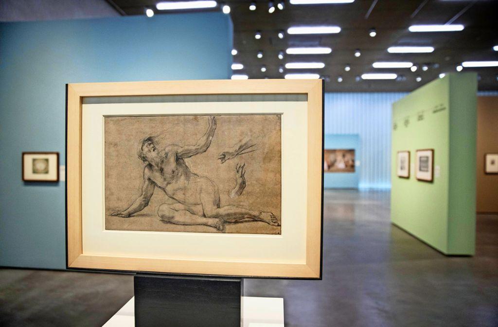 Simon Vouet, Kunstmaler des Barocks, hat diese  Zeichnung eines Mannes angefertigt. Foto: Stoppel
