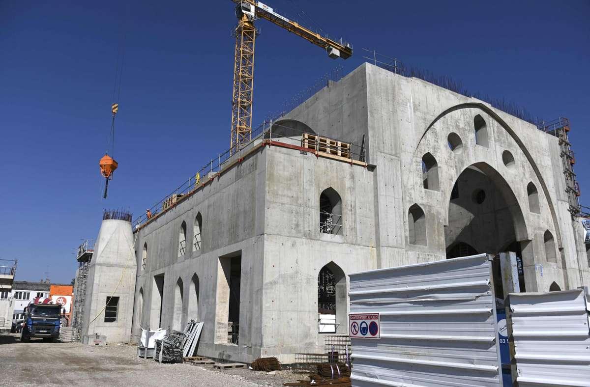 Die Moschee in Straßburg soll 2500 Gläubigen Platz bieten. Doch nun gibt es Streit um die millionenschwere Subvention der Stadt. Foto: AFP/FREDERICK FLORIN