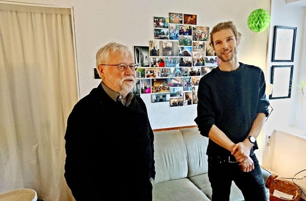 Frank Schweizer  und  Johannes Heynold  in der Casa Schützenplatz Foto: Springorum