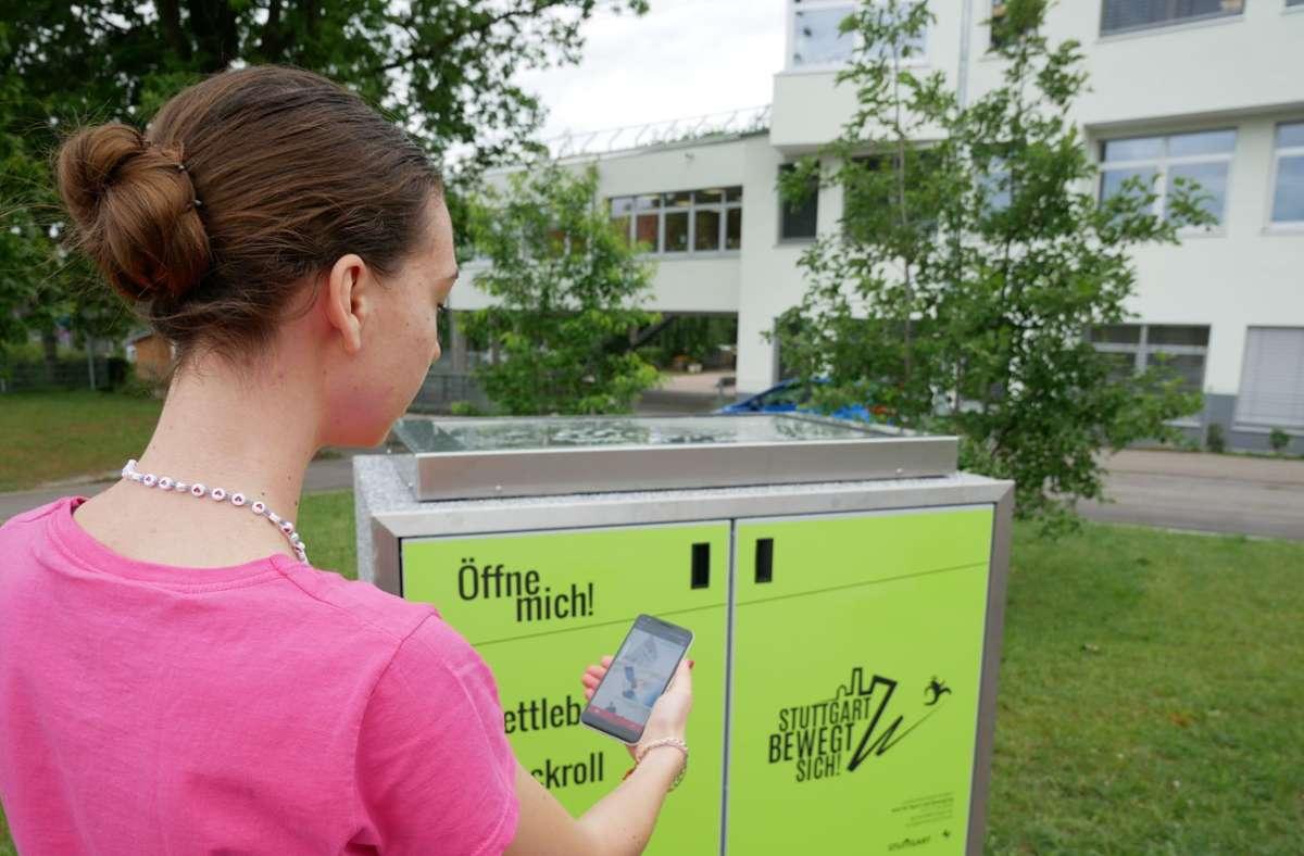 Die Boxen lassen sich mit einer App buchen. Foto: Stadt Stuttgart