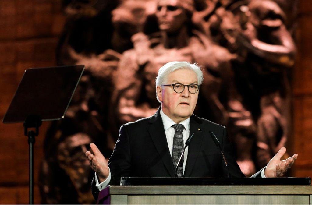 Frank-Walter Steinmeier sprach vor der Weltgemeinschaft. Foto: dpa/Abir Sultan