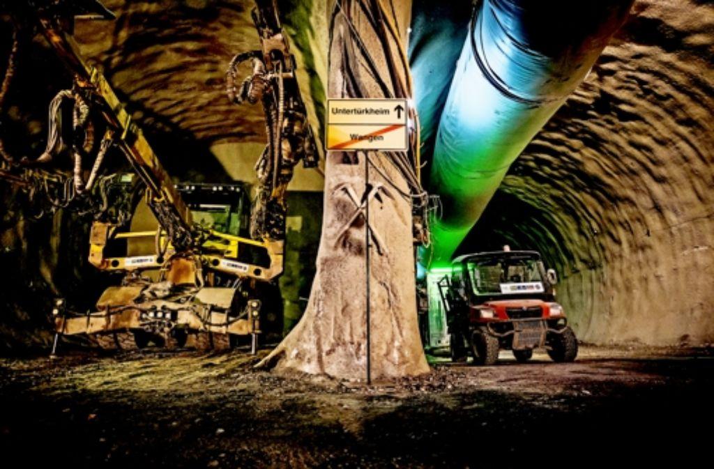 Die S 21-Tunnelbauer haben die erste unterirdische Verbindung zwischen  den  Stadtbezirke Wangen und Untertürkheim hergestellt. Foto: Lichtgut/Max Kovalenko