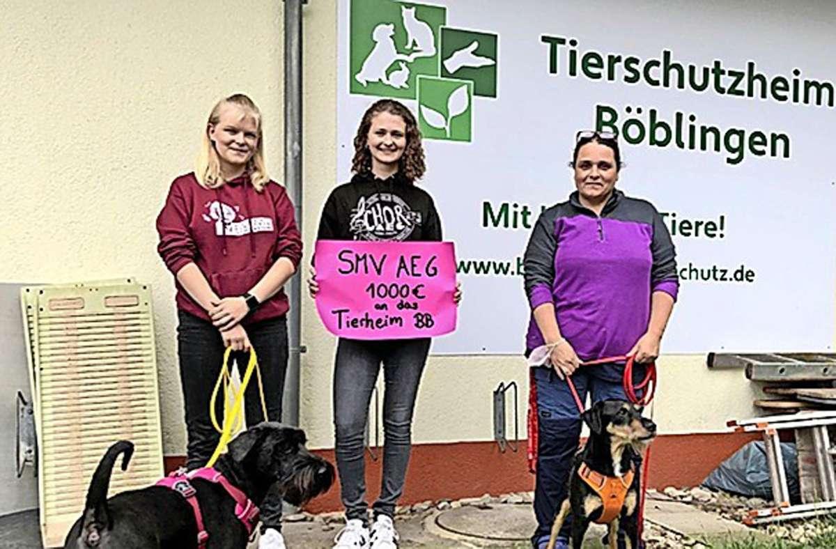 Auch das  Tierschutzheim bekam Geld. Foto: AEG
