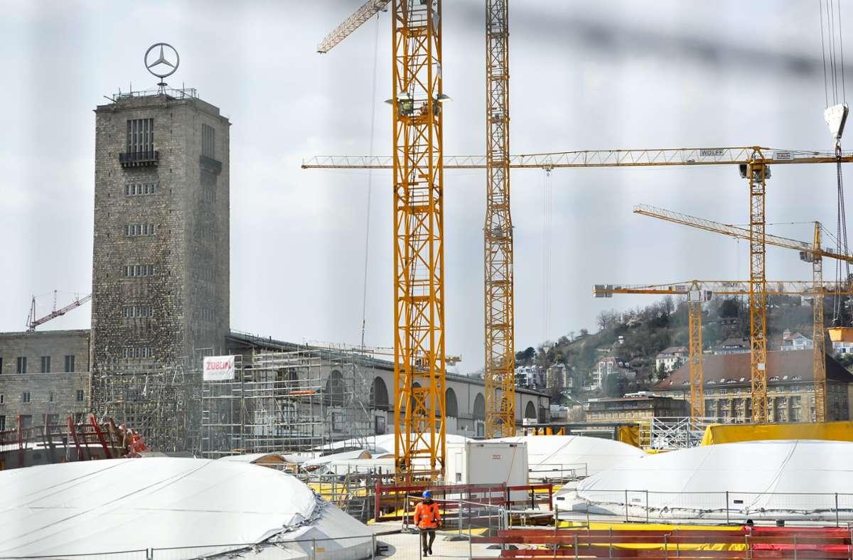 Blick auf das S21-Baufeld am Hauptbahnhof (Archivbild) Foto: Lichtgut/Max Kovalenko